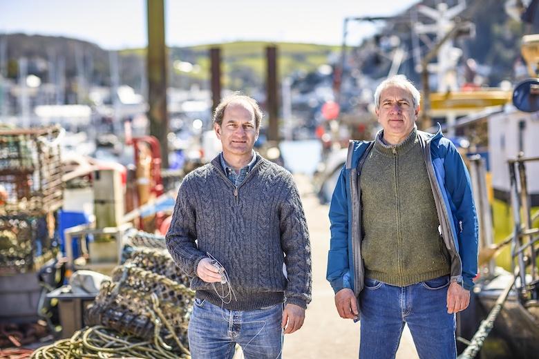 Brothers Pete and Ben Kibel, inventors of the Hookpod